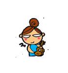 ウクレレガールとPナップルくん(個別スタンプ:07)