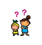 ウクレレガールとPナップルくん(個別スタンプ:22)