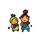 ウクレレガールとPナップルくん(個別スタンプ:31)