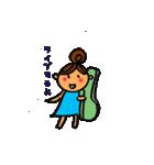 ウクレレガールとPナップルくん(個別スタンプ:34)