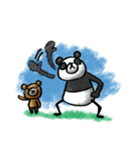 Do your best. Panda man(個別スタンプ:31)