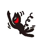 オーバーアクション黒猫2(個別スタンプ:01)