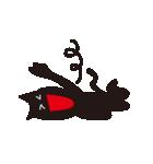 オーバーアクション黒猫2(個別スタンプ:03)