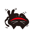 オーバーアクション黒猫2(個別スタンプ:06)