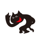オーバーアクション黒猫2(個別スタンプ:07)