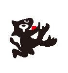 オーバーアクション黒猫2(個別スタンプ:20)