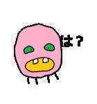 ピンク顔のおとぼけ宇宙バイキン(個別スタンプ:03)