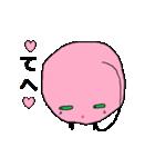 ピンク顔のおとぼけ宇宙バイキン(個別スタンプ:28)