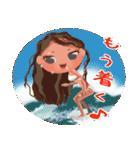 ハワイの休日 CHOU CHOU フラ&タヒチアン(個別スタンプ:04)