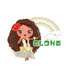ハワイの休日 CHOU CHOU フラ&タヒチアン(個別スタンプ:06)