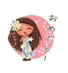ハワイの休日 CHOU CHOU フラ&タヒチアン(個別スタンプ:08)