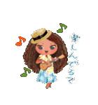 ハワイの休日 CHOU CHOU フラ&タヒチアン(個別スタンプ:09)