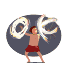 ハワイの休日 CHOU CHOU フラ&タヒチアン(個別スタンプ:11)