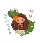 ハワイの休日 CHOU CHOU フラ&タヒチアン(個別スタンプ:12)