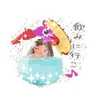 ハワイの休日 CHOU CHOU フラ&タヒチアン(個別スタンプ:15)