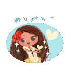 ハワイの休日 CHOU CHOU フラ&タヒチアン(個別スタンプ:33)
