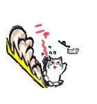 性格悪い白猫 Ver2(個別スタンプ:38)