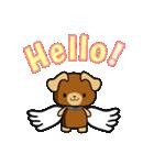 天使の羽を持つ可愛いカップル犬(個別スタンプ:01)