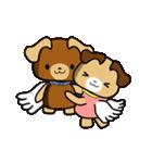 天使の羽を持つ可愛いカップル犬(個別スタンプ:03)