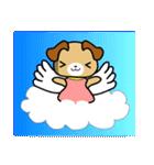 天使の羽を持つ可愛いカップル犬(個別スタンプ:12)