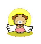 天使の羽を持つ可愛いカップル犬(個別スタンプ:14)