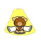 天使の羽を持つ可愛いカップル犬(個別スタンプ:15)
