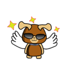 天使の羽を持つ可愛いカップル犬(個別スタンプ:19)