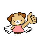 天使の羽を持つ可愛いカップル犬(個別スタンプ:28)
