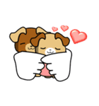 天使の羽を持つ可愛いカップル犬(個別スタンプ:31)