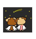 天使の羽を持つ可愛いカップル犬(個別スタンプ:38)