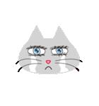 キラキラ目の猫(個別スタンプ:02)