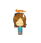 Stupid girl(個別スタンプ:21)