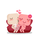 Lamour cute couple love(個別スタンプ:16)