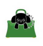 かばんの中のトイプードル(個別スタンプ:03)