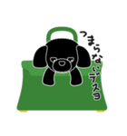 かばんの中のトイプードル(個別スタンプ:15)