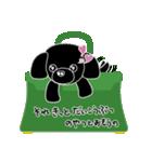 かばんの中のトイプードル(個別スタンプ:34)