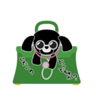 かばんの中のトイプードル(個別スタンプ:35)