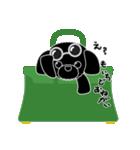 かばんの中のトイプードル(個別スタンプ:36)