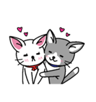 ネコねこカップル物語(個別スタンプ:05)