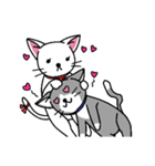 ネコねこカップル物語(個別スタンプ:16)