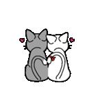 ネコねこカップル物語(個別スタンプ:17)