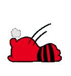 赤と黒のボーダーを着た白くま(個別スタンプ:39)