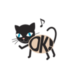 文字猫(個別スタンプ:3)