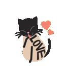 文字猫(個別スタンプ:34)