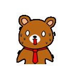 赤ネクタイの似合うくま(個別スタンプ:09)