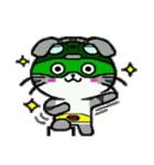 ヒロ猫(グリーン)(個別スタンプ:40)