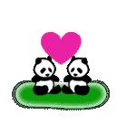 白黒ぱんだ~白と黒、モノクロ動物、パンダ