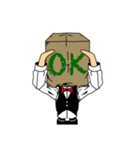 紙袋紳士(個別スタンプ:05)