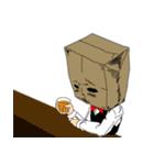 紙袋紳士(個別スタンプ:22)