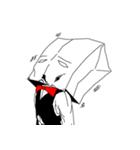 紙袋紳士(個別スタンプ:23)